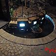 池周りのLED照明完成!