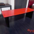 朱の座卓1