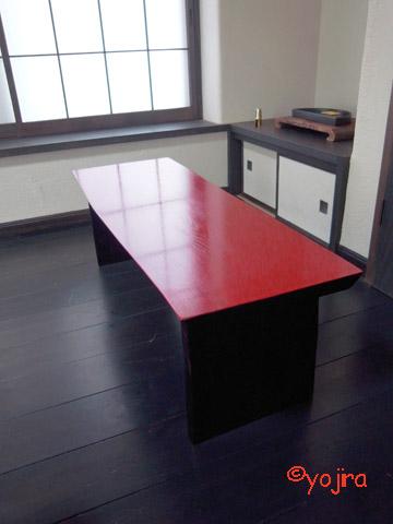 朱の座卓2