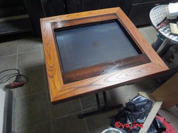 鉄板焼きテーブル